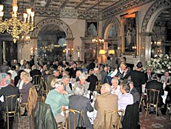 Members of the Thoroton Society lunching in the State Dining Room at Belvoir