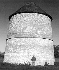 The well-known dovecote at Sibthorpe.
