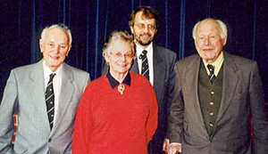 From left to right: Neville Hoskins, Rosalys Coope, John Beckett, Miles Thoroton Hildyard.