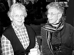 Diana Barley on the right, pictured with President Dr Rosalys Coope.