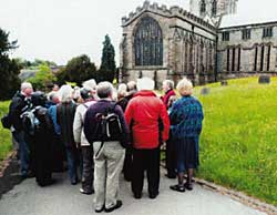 Alan talking about Ashbourne church.