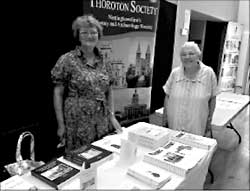 Penny Messenger and Margaret Trueman manning the stand at the Archaeology Day.
