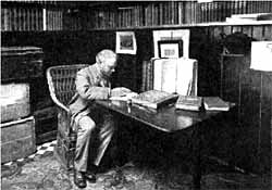 Cornelius Brown in his study.