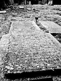 George Green's graveslab (Photo George Murfet).