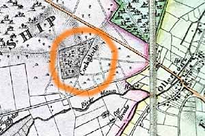 Location of the former Cockglode House (c.1835)